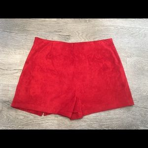 Red shorts(skirt in the front,shorts in the back)